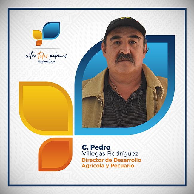 C. Pedro Villegas Rodríguez - Director de Desarrollo Agricola y Pecuario