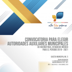 Convocatoria para elegir autoridades auxiliares municipales de Huehuetoca
