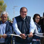 Castro Chimal entregó calles pavimentadas a vecinos de 4 comunidades