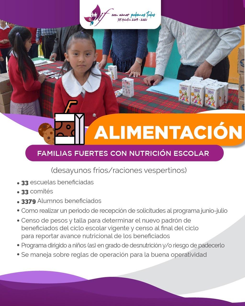 Familias Fuertes con Nutrición Escolar