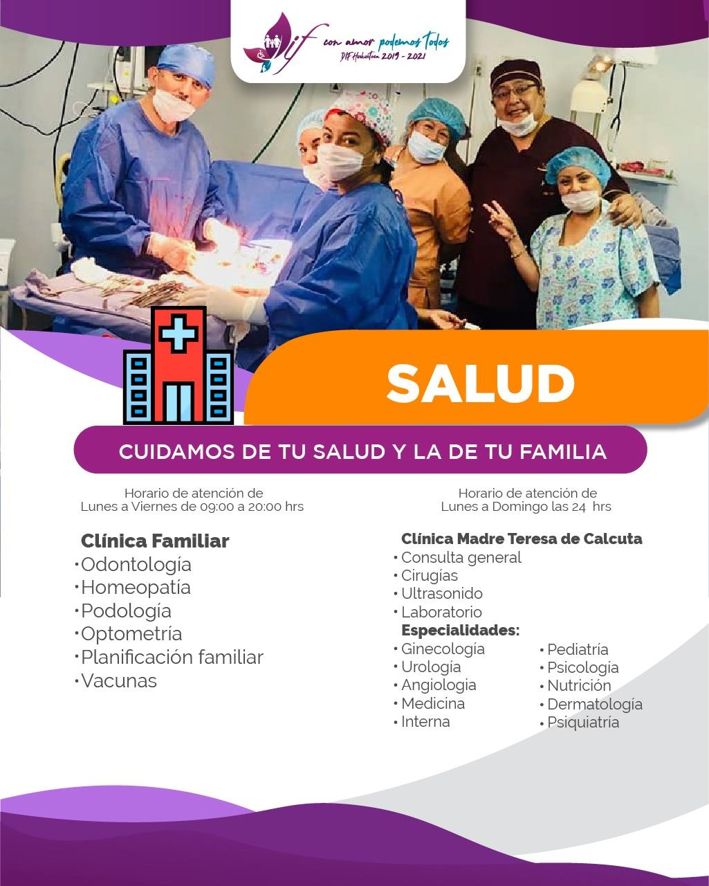 Cuidamos tu Salud y la de tu Familia